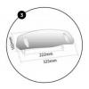 Ρυθμιζόμενο Universal Spoiler ζελατίνας Puig Clip on 102 X 325 χιλ. ελ. φιμέ