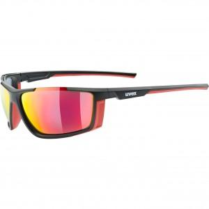 Γυαλιά UVEX Sportstyle 310 μαύρα ματ-κόκκινα