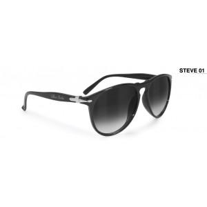 Γυαλιά Bertoni STEVE01 Vintage μαύρο γυαλιστερό ec796ce5302