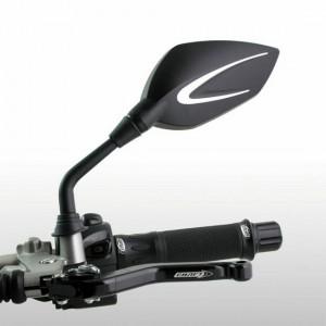 Καθρέπτες universal Chaft Extra 10 mm μαύρο-ασημί (σετ)