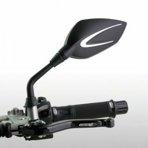Καθρέπτες universal Chaft Extra 8 mm μαύρο-ασημί (σετ)