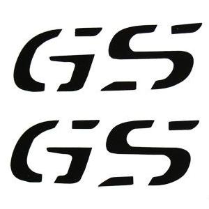 """Αυτοκόλλητα """"GS"""" ύψους 2,5 εκ. μαύρα"""