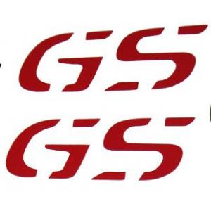 """Αυτοκόλλητα """"GS"""" ύψους 2,5 εκ. κόκκινα"""