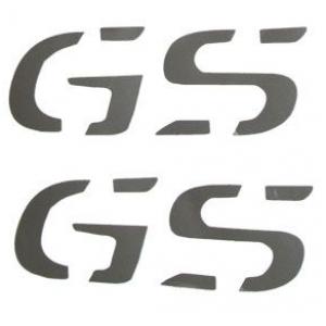 """Αυτοκόλλητα """"GS"""" ύψους 2,5 εκ. ασημί"""