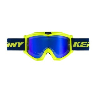 Μάσκα Enduro / MX Kenny Track+ μπλε νέον κίτρινη