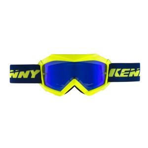 Μάσκα Enduro / MX Kenny Track+ παιδική μπλε νέον κίτρινη