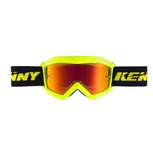 Μάσκα Enduro / MX Kenny Track+ παιδική νέον κίτρινη