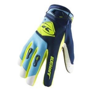 Γάντια Kenny Track Enduro / MX μπλε γαλάζια κίτρινα