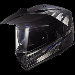 LS2 Metro Evo FF324 Buzz μαύρο τιτάνιο μπλε ματ