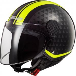 LS2 Sphere Lux OF558 Crush μαύρο κίτρινο