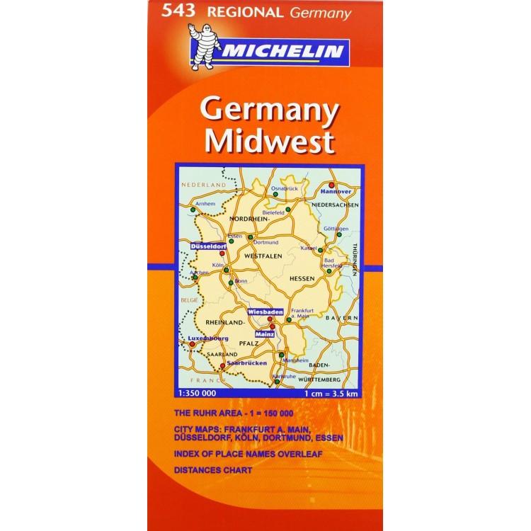 Χάρτης Δυτικής Γερμανίας Michelin road map 1:350.000