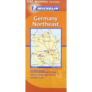 Χάρτης Βορειοανατολικής Γερμανίας Michelin road map 1:350.000