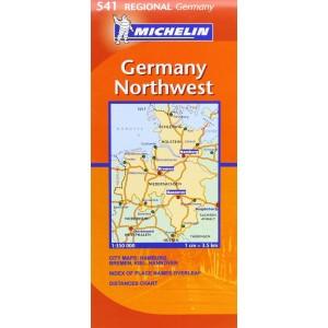 Χάρτης Βορειοδυτικής Γερμανίας Michelin road map 1:350.000