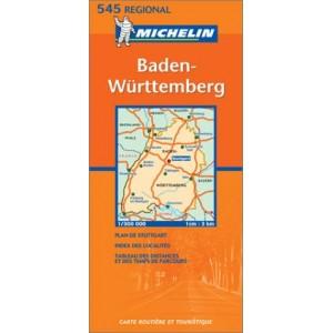 Χάρτης Νοτιοδυτικής Γερμανίας Michelin road map 1:300.000