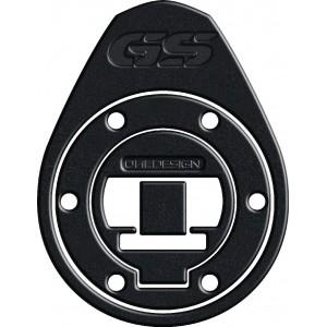 Κάλυμμα τάπας ντεποζίτου One Design soft touch BMW R 1200 GS LC leather look μαύρο