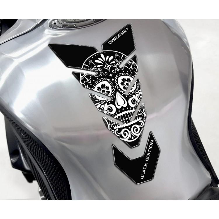 Tankpad One Design black edition skull 4 λευκό μαύρο