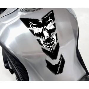 Tankpad One Design black edition skull 5 λευκό μαύρο