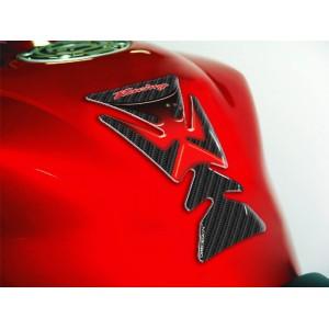 Tankpad One Design racing carbon look κόκκινο