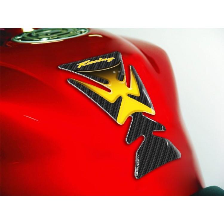 Tankpad One Design racing carbon look κίτρινο