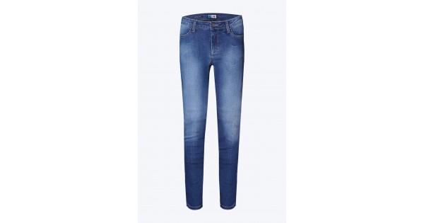 ea7dc235623e Παντελόνι τζιν μοτοσυκλέτας PMJ Skinny με TWARON γυναικείο ανοιχτό μπλε