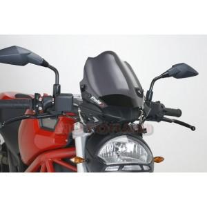 Ζελατίνα Puig Naked New Generation Ducati Monster 696/796/1100 μαύρη