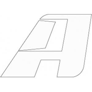 Αυτοκόλλητο λογότυπο AltRider 6.3 cm λευκό