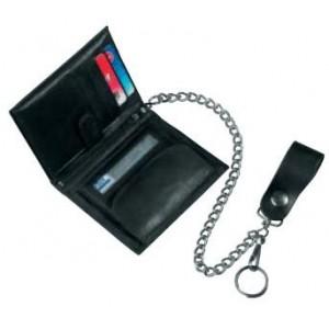 Δερμάτινο πορτοφόλι με αλυσίδα DIFI