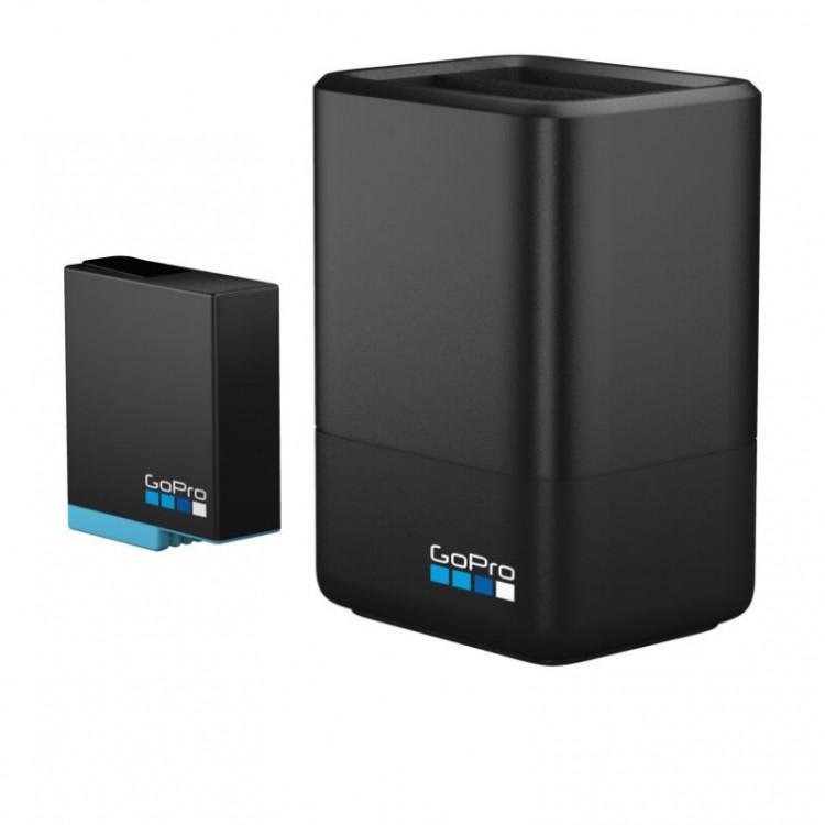Φορτιστής 2 μπαταριών και επιπλέον μπαταρία GoPro Hero 5/6/7/8 black
