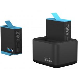 Φορτιστής 2 μπαταριών και επιπλέον μπαταρία GoPro Hero 9/10 black
