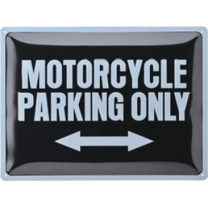"Ταμπέλα ""Motorcycle Parking Only"""
