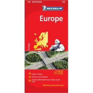 Χάρτης Ευρώπης Michelin road map