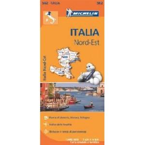 Χάρτης Βορειοανατολικής Ιταλίας Michelin road map 1:400.000