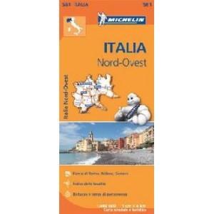 Χάρτης Βορειοδυτικής Ιταλίας Michelin road map 1:400.000