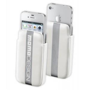 Θήκη Momo Design για iPhone4 φάκελος σκληρός λευκός