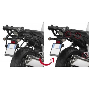 Βάσεις πλαϊνών βαλιτσών rapidlock GIVI V35/Kappa K33 Honda Crossrunner 800 -14