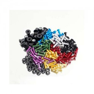 Σετ ανοδιωμένες βίδες-παξιμάδια αλουμινίου M5x16 (χρώματα)