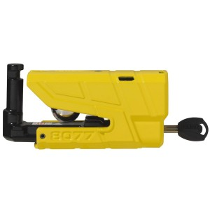 Κλειδαριά δισκόφρενου με συναγερμό ABUS Granit Detecto 8077 κίτρινη