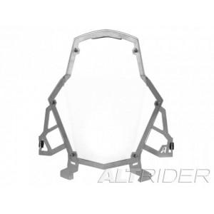 Προστατευτικό φαναριού διάφανο AltRider KTM 1290 Super Adventure/T ασημί βάση