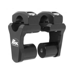Αποστάτες τιμονιού ROX 50 mm για τιμόνι fatbar (Ø28mm) μαύροι
