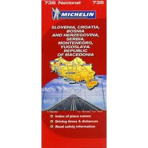Χάρτης Βαλκανίων Michelin road map