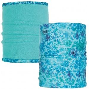 Buff Neckwarmer Polar Reversible Firny Aqua/Blue Capri