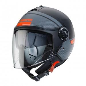 Κράνος Caberg Riviera V4 Elite 70 ανθρακί-fluo πορτοκαλί
