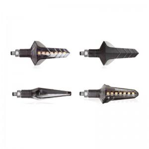 Φλας LED universal Chaft Wapon 2 ρυθμικά μαύρο-φιμέ (σετ)