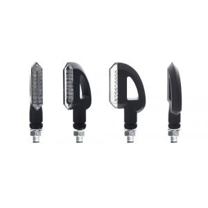 Φλας LED universal Chaft Jordan μαύρο - φιμέ (σετ)