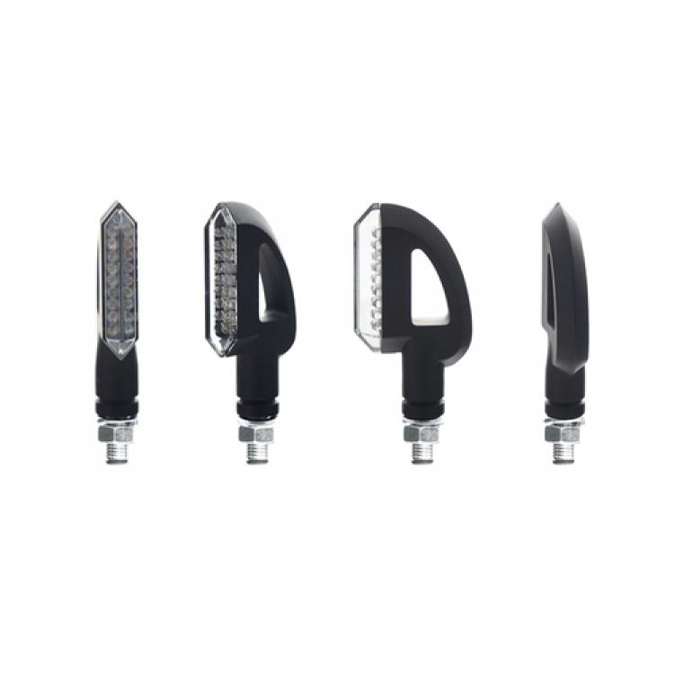 Φλας LED universal Chaft Jordan μαύρο - διάφανο (σετ)