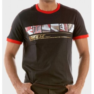 T-shirt Dainese Legend 1993 μαύρο-κόκκινο