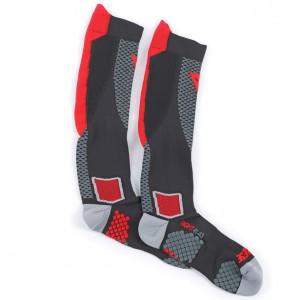 Κάλτσες Dainese D-Core μακριές μαύρες-κόκκινες