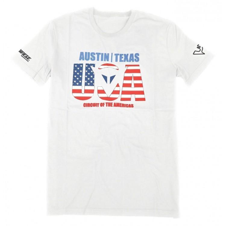 T-shirt Dainese Austin D1 λευκό