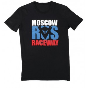 T-shirt Dainese Moscow D1 μαύρο