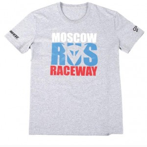 T-shirt Dainese Moscow D1 γκρί